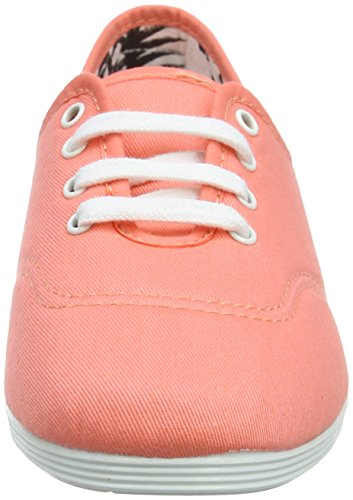 000 crl Donna Coral Flossy Costa Scarpe Stringate Oxford Arancione wgF41qT0