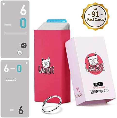 Gamenote Subtraction Flash Cards Ring product image