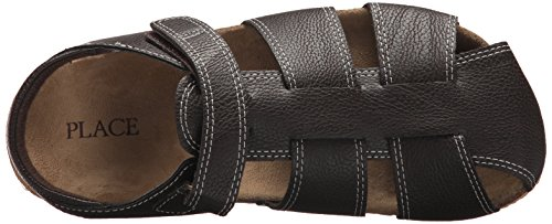 The Children's Place Boys' BB Fisherman SCO Flat Sandal, Brown, Youth 11 Medium US Big Kid by The Children's Place (Image #7)