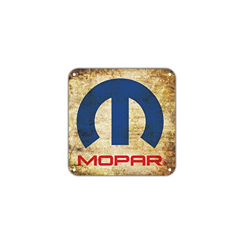 Mopar Parts Service Customer Care Fiat Chrysler Vintage Retro Metal Car Motorcycles Automobiles Wall D Cor Art Aluminum 12 X12  Sign