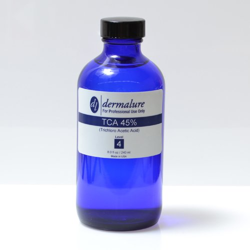 Trichloro Acetic Acid - TCA Peel 45% 8oz. 240ml Pro Size (Level 4 pH 0.7) by Dermalure