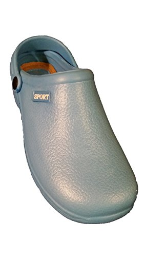 SPORT Womens Lt. Blue Lightweight Durable Nurse Clogs (9) GdsdiM