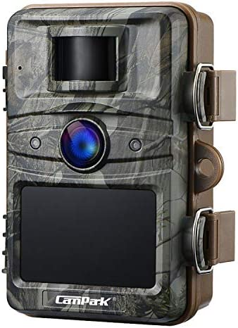 Campark Upgrade T70 Trail Game Camera No Glow 16MP 1080P Night Vision Outdoor Hunting Cam Security Motion Activated Camera with 2.4″ LCD and IP66 Waterproof Battery Powered