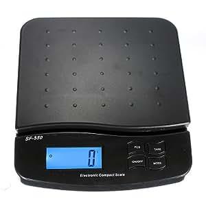 dipshop Digital 25kg 55lb Parcel Letter Postal Postage Weighing LCD (Black)