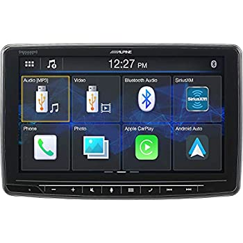 Image of Alpine iLX-F259, Halo9 9' Single Din Mech-Less Digital Media Receiver, Apple CarPlay/Android Auto Car Stereo Receivers