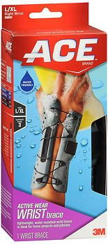 ACE Active Wear Wrist Brace L/XL Left Wrist -1 Each - #208003, Pack of 5