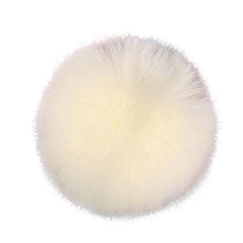 Faux Ball Fur Beige DIY Fluffy White Shoes for Fox Pompom Charms Diadia Scarves Bag Accessories Hat Knitting Hat pBFqndTd