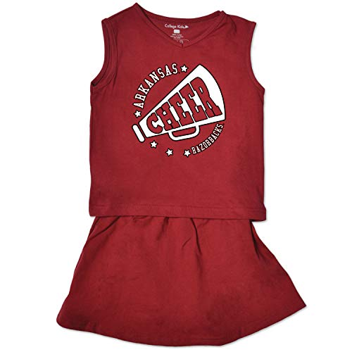 - NCAA Arkansas Razorbacks Toddler Girl Cheer Set, 5/6 Toddler, Cardinal