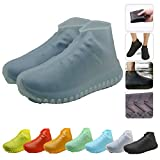 Nirohee Silicone Shoes Covers, Shoe Covers, Rain Boots Reusable Easy to Carry for Women, Men, Kids. (Gray, L)