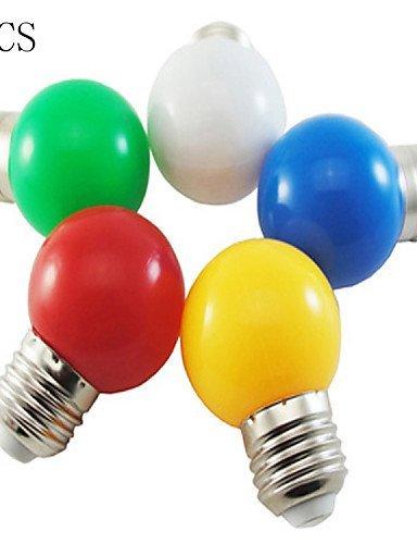 5pcs Bombilla LED Color E27 1 W de una bombilla Pequeño decorativo para iluminación de colores luces de navidad: Amazon.es: Iluminación