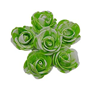 YONGSNOW Fake Flower Heads 100pcs 2.5cm Mini Artificial Foam Rose Head Real Touch Flower Without Stem for Wedding Party Home Decoration 70