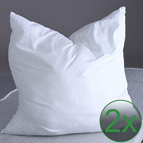 proheim 2er Pack Microfaser Kopfkissen 80 x 80 cm weich und bequem für Allergiker geeignet bei 60 °C maschinenwaschbar und formstabil