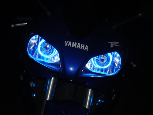 Price comparison product image Kawasaki Ninja ZX-6R RR 94-97-00-03-04-06-07-08-09-10-11-12-13 CCFL Halo Angel Demon Eyes