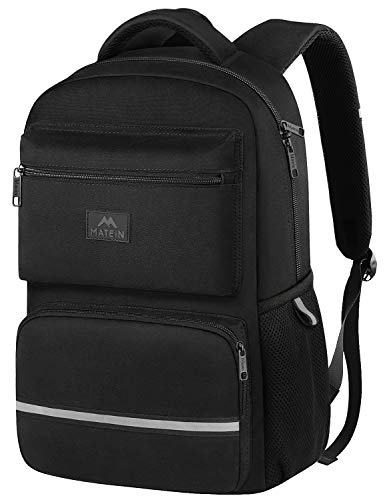 Middle School Backpack, Waterproof High School Student Laptop Backpacks for Women, Men, Boys and Girls, Cute Lightweight Computer Bookbag Fits 15 Inch Laptop and Notebook, Black (Boys School Backpack)