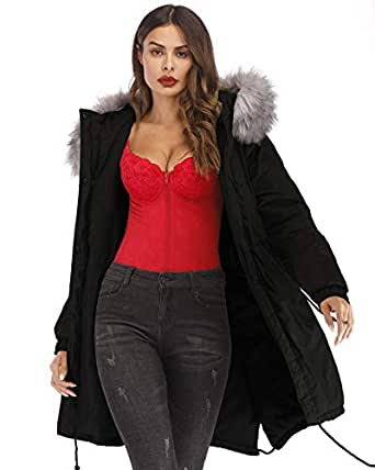 Amazon.com: Aofur Women's Plus Size Winter Warm Long Thick