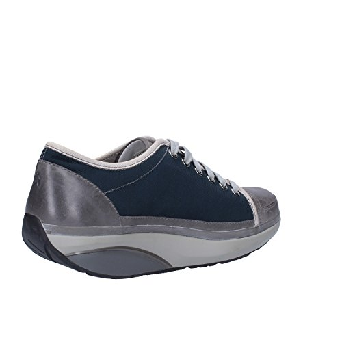 MBT Sneakers Damen Leder Textil (38 EU, Blau/Grau)