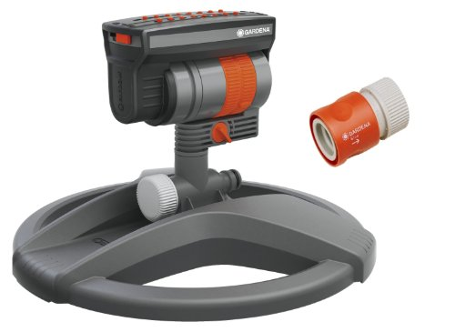 Gardena ZoomMaxx Oscillating Sprinkler on Weighted Sled Base
