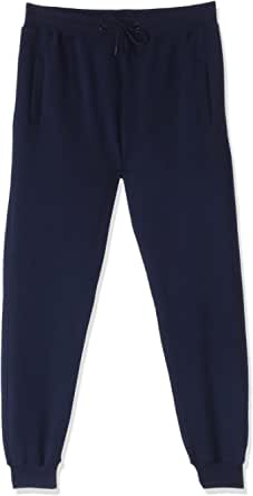 Lines Ribbed Trim Drawstring Elastic Waist Sweatpants for Men M