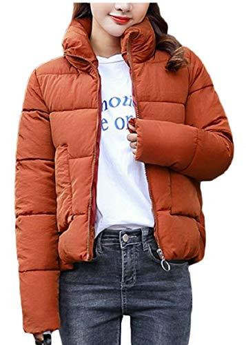 Donne Breve Caldo Del Piumino Di Outwear Basamento Delle Collare Sicurezza 1 Trapuntato Addensare vww5T8Hq