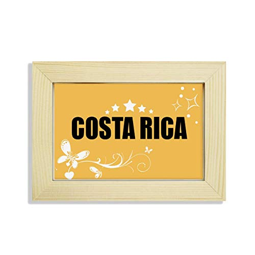 (Costa Rica Country Name Desktop Wooden Flower Photo Frame Painting)
