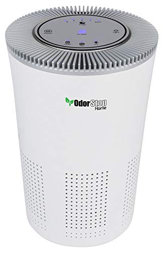 OdorStop HEPA Air Purifier with H13 HEPA Filter, UV Light, Active Carbon, Multi-Speed, Sleep Mode and Timer (Bright…
