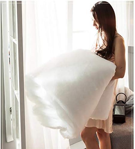 ZXTT Housses De Couette Luxueuse Quilts Couette en Microfibre édredons Couvertures Couette Légère Blanc Rose Gris Solid Color Matelasse-d 200x230cm(79x91inch)