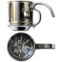 Al-de-chef Flour Sifter - 1 CUP Capacity - Stainless Steel