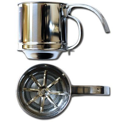 Al-de-chef Flour Sifter - 1 CUP Capacity - Stainless Steel k0215