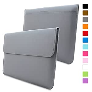 Macbook Pro 15 Case, Snugg™ - Leather Sleeve with Lifetime Guarantee (Grey) for Apple Macbook Pro 15