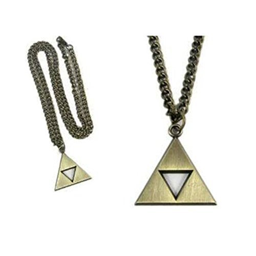 Cosplay Anime Legend of Zelda Triforce Symbol Necklace (gold) by xiukun