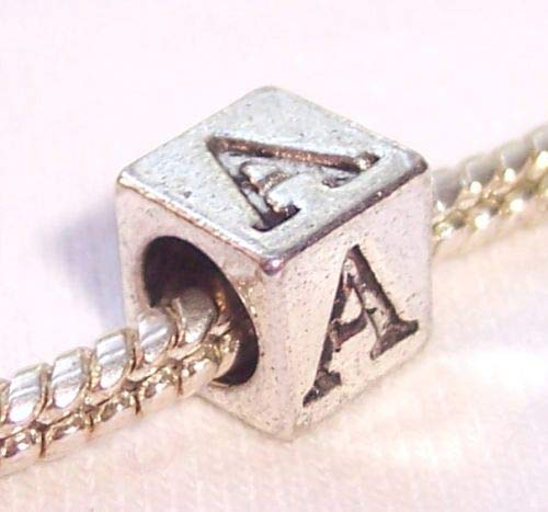 Jewelry Making Supply Alpha Symbol Uppercase Greek Letter Numeral A Cube Bead for Euro Charm - Greek Symbols Letters