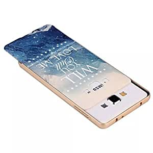 HJZ LOVE ME Metal Frame Full Embossment Pattern Back Case for Samsung Galaxy A3