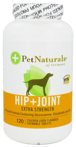 Pet Naturals of Vermont Hip and Joint Extra Strength for Dogs Chicken Liver — 120 Chewables, My Pet Supplies
