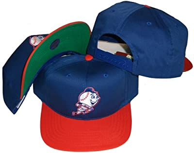New York Mets Blue/Orange Two Tone Plastic Snapback Adjustable Plastic Snap Back Hat / Cap by American Needle