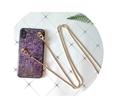 Fashion Glitter Marble Phone Crossbody Case Cover Bag for iPhone Xs MAX XR X 8 7 6S 6 Plus case with Long Shoulder Strap Lanyard,3,for iPhone 8