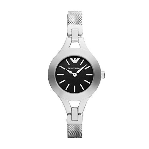 Emporio Armani AR7328 Ladies Black and Silver Chiara Watch