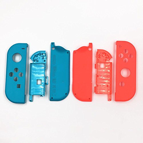 Full Housing Faceplate Shell Case Cover & Battery Middle Plate Frame Replacement Part For Nintendo Switch NS NX Joy-Con Controller - Frame Faceplate Housing