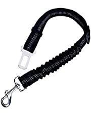 Just Pet Zone Seat Belt for dogs with Anti shock Bungee Buffer One of Important Car Travel Accessories for Dogs Adjustible, Elastic (Single).