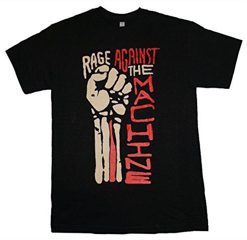 hine - Fist Red Letters - Men's T Shirt Black (X-Large) ()