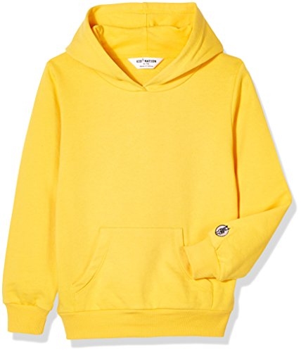 Hooded Sweatshirt Terry - Kid Nation Kids' French Terry Oversized Solid Hoodie Sweatshirt For Boys or Girls XL Yellow