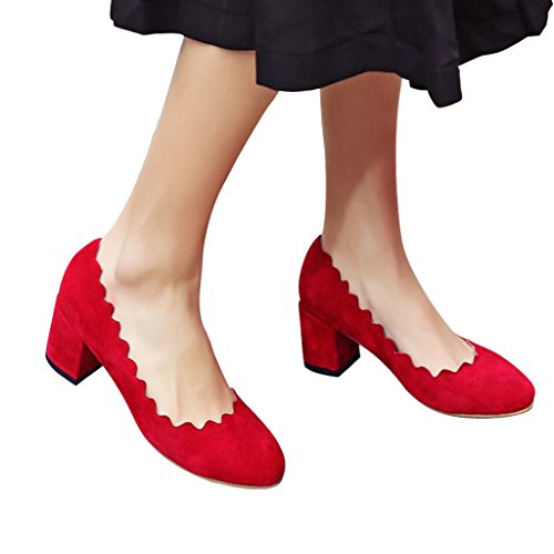 Jushee - Zapatillas Bajas mujer Red