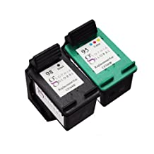 Sophia Global Remanufactured Ink Cartridge Replacement for HP 98 and HP 95 (1 Black, 1 Color)