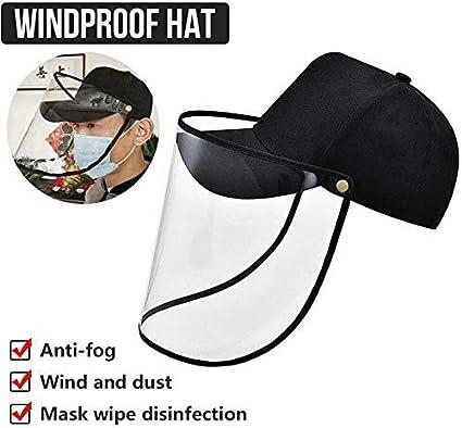 HUSHUS Cap de PVC Transparente Plegable de Sun del Casquillo a Prueba de Viento de los Ojos Protección Mascarilla-de Todos los Días Carry
