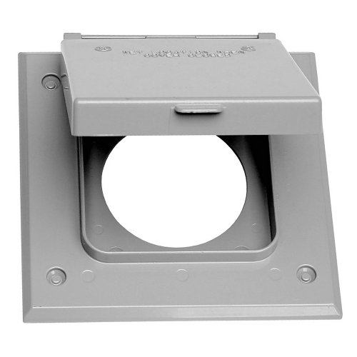 Sigma Electric 14321 2-Gang 20-50 Amp Outlet Cover, Gray