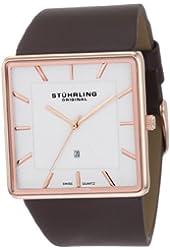 Stuhrling Original Men's 342.3345K2 Classic Ascot Saratoga Swiss Quartz Ultra Slim Date Rose Tone Watch