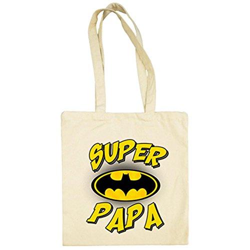 Beige De Papá Batman Tela Bolsa Súper wOXRqxv