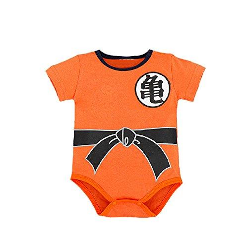 Baby Boys' Dragon Ball Z Goku Son Short Sleeve Romper Costume (70, B) ()