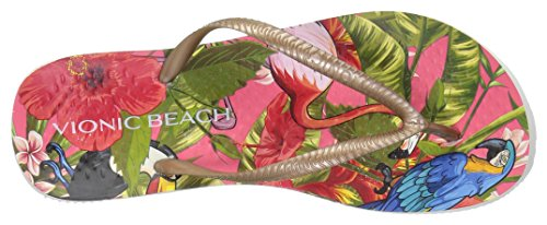 Flop Red Flip Vionic Tropical Women's Bronze Noosa Beach TWHHOI1g