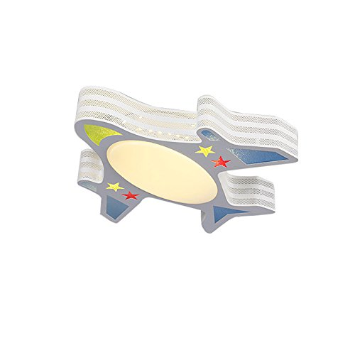 wecus w1022 Contemporary Modern Creative Ironアクリルかさ飛行機Large天井ランプライト器具子供キッズ部屋寝室子供部屋装飾屋内照明   B07D1K8FHM