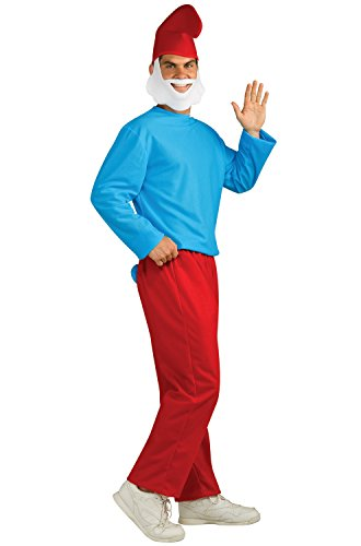 Rubie's Men's Papa Smurf Adult Costume, Smurfs: The Lost Village, -